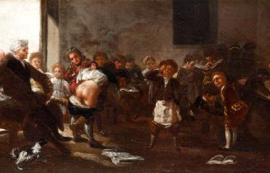 La letra con sangre entra (1785) por Francisco de Goya