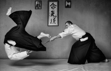 Practicantes de aikido