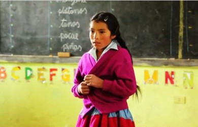 Shy Andean Girl