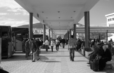 Bus Station in Tetouan, Morocco