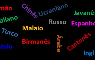 Línguas faladas no mundo