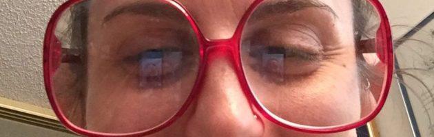 Nicki in glasses