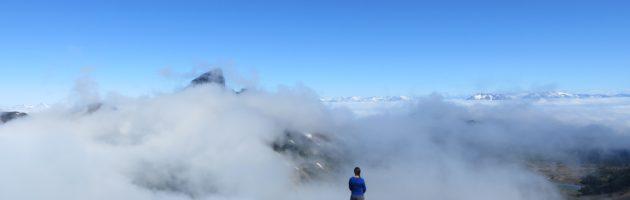Nicki on a mountain