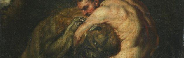 Ercole e i leone nemeo, by Pieter Paul Rubens