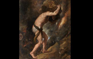 Sísifo, por Tiziano (1548-49)