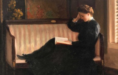 Woman Reading on a Settee (ca. 1905–10), by William W. Churchill (1858–1926)